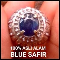 Batu Safir Natural Dark Blue Sapphire 100% Asli Alam Mulus Full Serat
