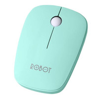 ROBOT M220 2.4G Wireless Optical Mouse - Garansi Resmi 1 Tahun - Biru Muda