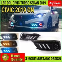 LED DRL SEIN HONDA CIVIC TURBO SEDAN 2019 ON MUSTANG STYLE