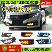 LED DRL SEIN HONDA CIVIC TURBO SEDAN 2019 ON LAMBO STYLE