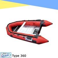 perahu karet import OCEAN 3,6 PVC 1.2 mm almunium floor welding system