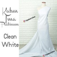 HijabersTex 1/2 Meter Kain KATUN IMA PLATINUM Clean White
