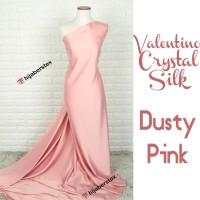 HijabersTex 1/2 Meter Kain VALENTINO CRYSTAL SILK Dusty Pink