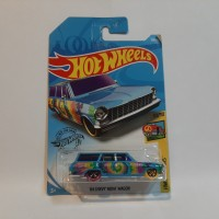 Hot Wheels 64 Chevy Nova Wagon Biru HW Art Cars