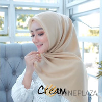 Bella Square Hijab Segiempat Cream - Jilbab Segiempat