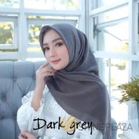 Bella Square Hijab Segiempat Dark Grey - Jilbab Segiempat