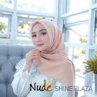 Bella Square Hijab Segiempat Nude - Jilbab Segiempat