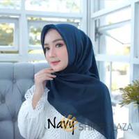Bella Square Hijab Segiempat Navy - Jilbab Segiempat