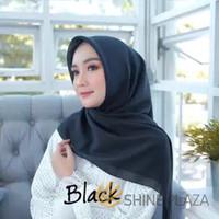 Bella Square Hijab Segiempat Black - Jilbab Segiempat