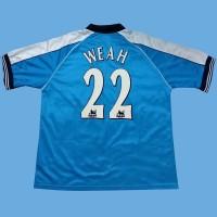 Original Jersey Manchester City 2000-01 Home Weah Baju Bola Asli