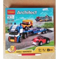 Mainan Block Lego 3 in 1 TRUCK TRAILER Decool 3114 model Architect