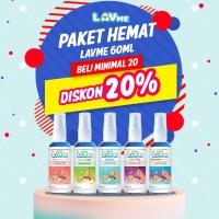 Lavme Anti Bacterial Spray 60ml - Paket Hemat 20pcs Disc 20%