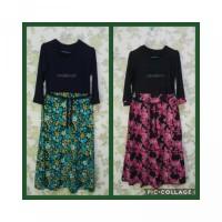 Pakaian wanita muslim dress GAmis anak jersey size xl dan xxl