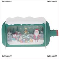 Kartu Ucapan Desain Merry Christmas 3D Vintage dengan Amplop