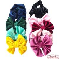 ❣TOP☞Baby Girl Kid Toddler Pleuche Hairband Headband Stretch