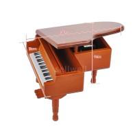 Εs & wε Mainan Kotak Musik Piano Kayu Klasik Melody untuk Hadiah