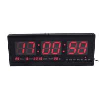 Jam Dinding Digital LED Besar Modern dengan Tanggal