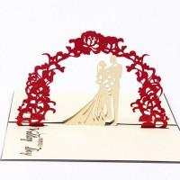 Kartu Ucapan Pop Up 3D untuk Undangan Pernikahan / Valentine
