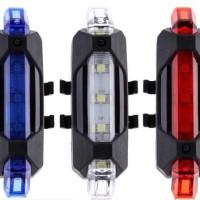 Lampu belakang sepeda LED recharge rechargeable kecil di cas last