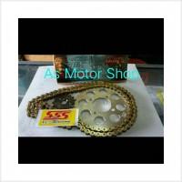 Grosir Gear set sss 415 rantai gold cb150r cbr150r tiger megapro verza