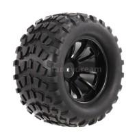 F&D 4PCS 1/10 Tyre Nail Block Tread Pattern 10 Spokes Rim for 1/10