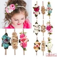 ❣TOP☞3pcs Kids Girl Baby Toddler Bow Headband Hair Band