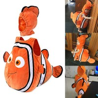 Halloween Fish Costumes Jumpsuit Kids Cosplay Outfit with Hat for