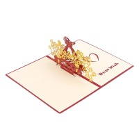 Butterfly Basket 3D Greeting Card with Envelope Post Card Handmade