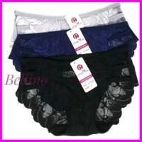 Celana Dalam Wanita Brukat Transparan Model Strap Cd Cewek Model Renda