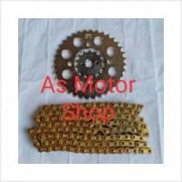 Baru Gear set sss 428 rantai gold cb150r cbr150r tiger megapro verza g