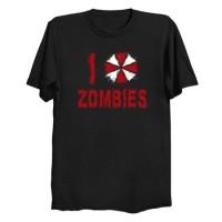 Kaos I Love Zombies T-Shirt
