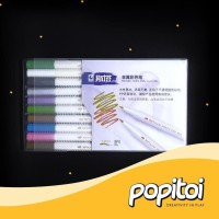 Terlaris Paling Diminati! STA Metallic Brush Pen Set 10 Colors