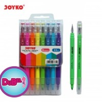 Dual Color Gel Pen + Highlighter Joyko GPC-277 / Gel pen warna warna