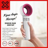 Kipas Angin Portable Niscaya - Handhold Rechargeable USB Mini Fan