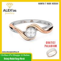 cincin berlian Lyly Cassual ring natural diamond emas 18k 7 hari Fvvs