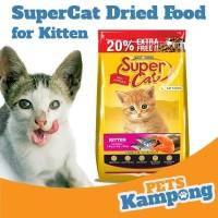 Makanan kucing kecil kering Supercat Kitten 1,8kg