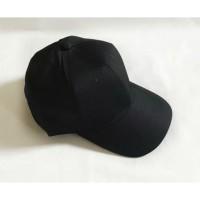 Topi baseball unisex pria/wanita / Topi Cap hitam polos