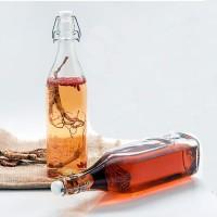Botol Swing/Botol Jus/Swing Lid Bottle/Glass Bottle/1000mL/Milk Glass