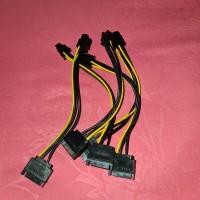Kabel SATA 15 PIN TO 6 PIN PCI-E VGA CARD / 15PIN TO 6PIN