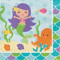 Tisu Lunch Tema Mermaid Friend - Perlengkapan Pesta Ulang Tahun