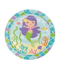 "Piring Kertas 7"" Tema Mermaid Friend - Pesta Ulang Tahun"