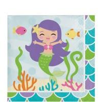 Tisu Tema Mermaid Friend - Perlengkapan Pesta Ulang Tahun