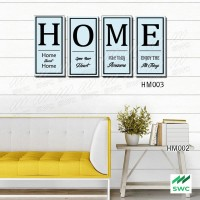 HOME Hiasan Dinding Wall Decor Unik 4 Panel ( 1 set)Untuk Rumah HM003