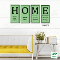 HOME Hiasan Dinding Wall Decor Unik 4 Panel ( 1 set)Untuk Rumah HM004