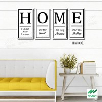 HOME Hiasan Dinding Wall Decor Unik 4 Panel ( 1 set)Untuk Rumah