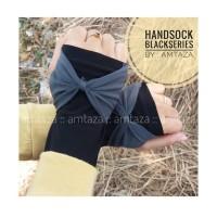 HANDSOCK MANSET TANGAN JEMPOL PITA BLACK SERIES AMTAZA - GROSIR
