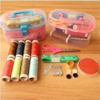 Alat Jahit Kotak Box Set Peralatan Jahit Menjahit Sewing Kit Mini