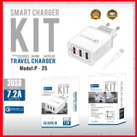 Adapter Smart Charger Batok 3USB Casan Max Total 7.2 Ampere
