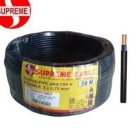 Kabel Listrik 2x0,75 MM Serabut-Rambut (NYMHY) SUPREME Meteran (1M)