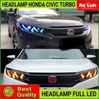 HEADLAMP - HEAD LAMP HONDA CIVIC TURBO 2016-2020 FULL LED LAMBO STYLE